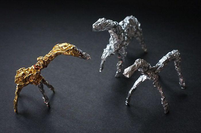лошадки из фольги
