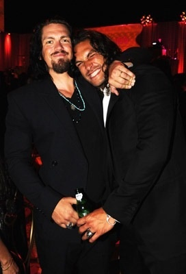 James and Jonathan or two versions of James?   Both of these guys could be James Laird. (Jason Momoa and Steve Howey)