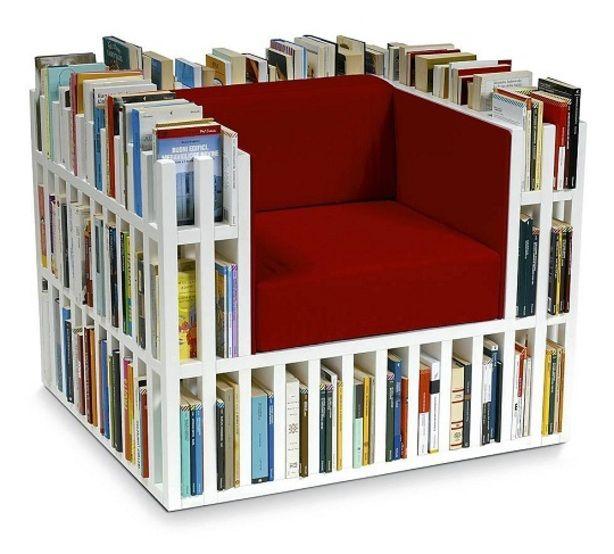 De boekenkast stoel in het wit!