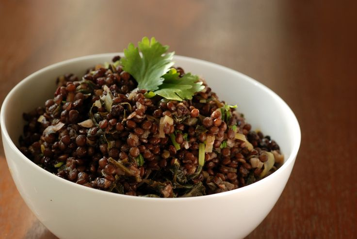 Warm Lentil and Swiss Chard Salad
