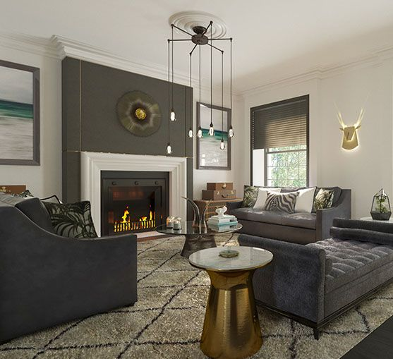 Jet Set from Tamaryn White Studio #pinoftheday #interiordesign #luxury #livingroom #sofa #lighting #art #rugs