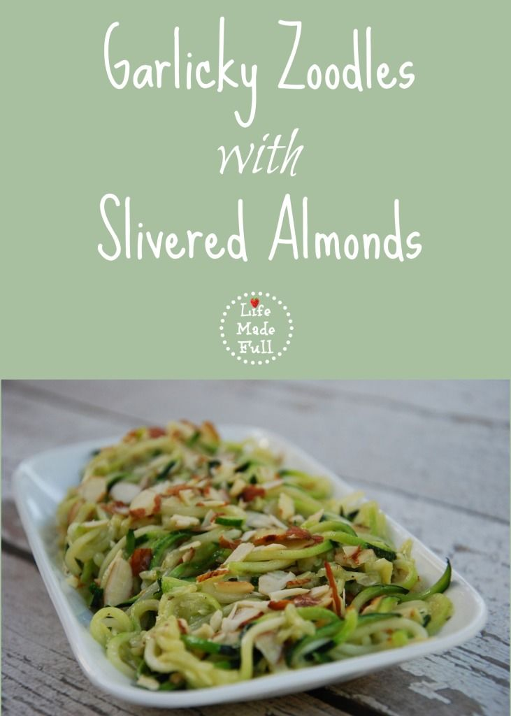 Garlicky Zoodles With Slivered Almonds