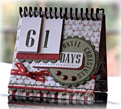scrapbook christmas countdown calendar   Ohhhhhhhhhhhhhhhh Love this. Great idea for desktop.... Fits so nicely ...