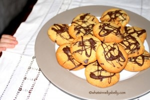 Watch out for little fingers trying to steal your cookies. Orange Chocolate Drizzle Cookies