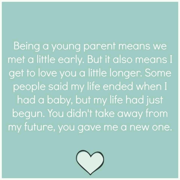 To all the young parents