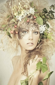 fairy hair and headdress