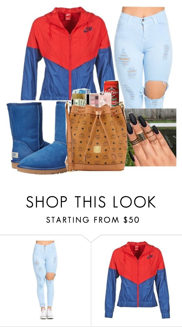 """Nikeee"" by ashantisowell on Polyvore featuring NIKE and UGG"
