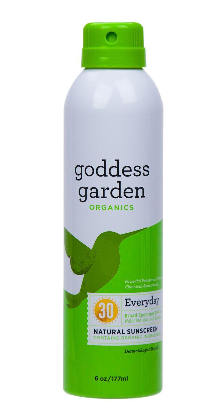 Goddess Garden Everyday Natural Sunscreen Continuous Spray Spf 30 Skin Deep Cosmetics