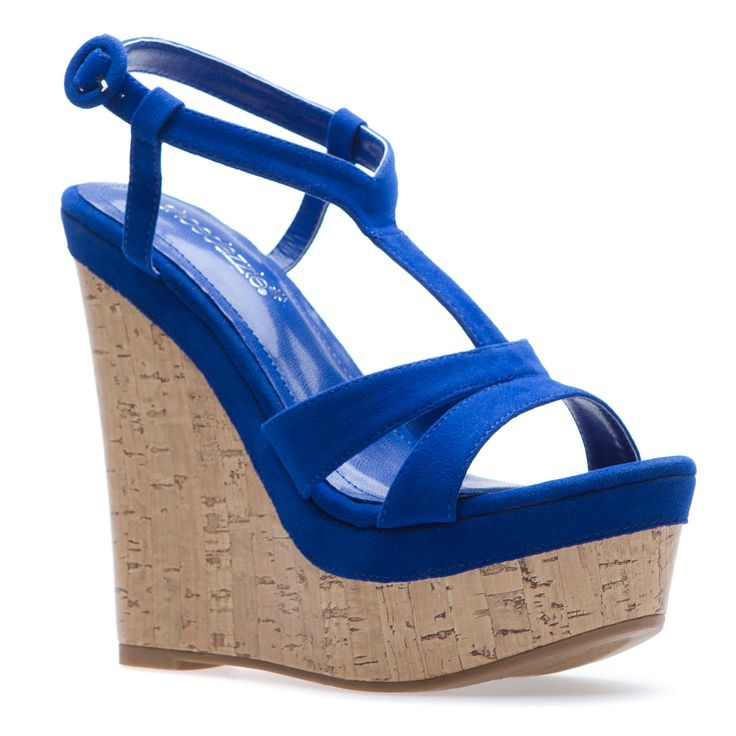 Might have to buy these!!!: Blue Wedges, Shoes Dazzle, Fashion Shoes, Cobalt Blue, Special Shoes, Leslie Blue, Blue Shoes, Blue Boards, Summer Wedges