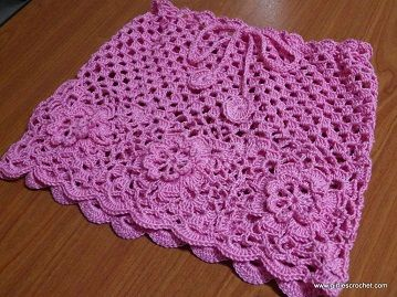 free tutorial-Crocheted Skirt Pattern