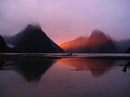 Milford Sound, take the boat trip, it's wonderful.