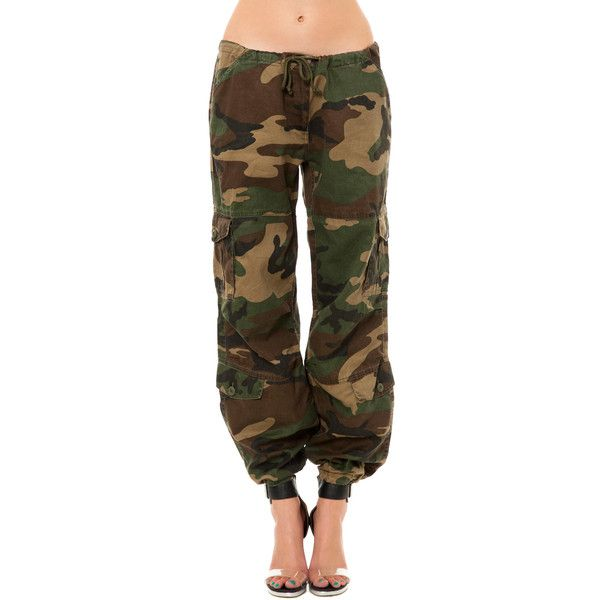 Rothco The Vintage Paratrooper Fatigues in Woodland Camo ($55) ❤ liked on Polyvore featuring pants, bottoms, jeans, camo and rothco