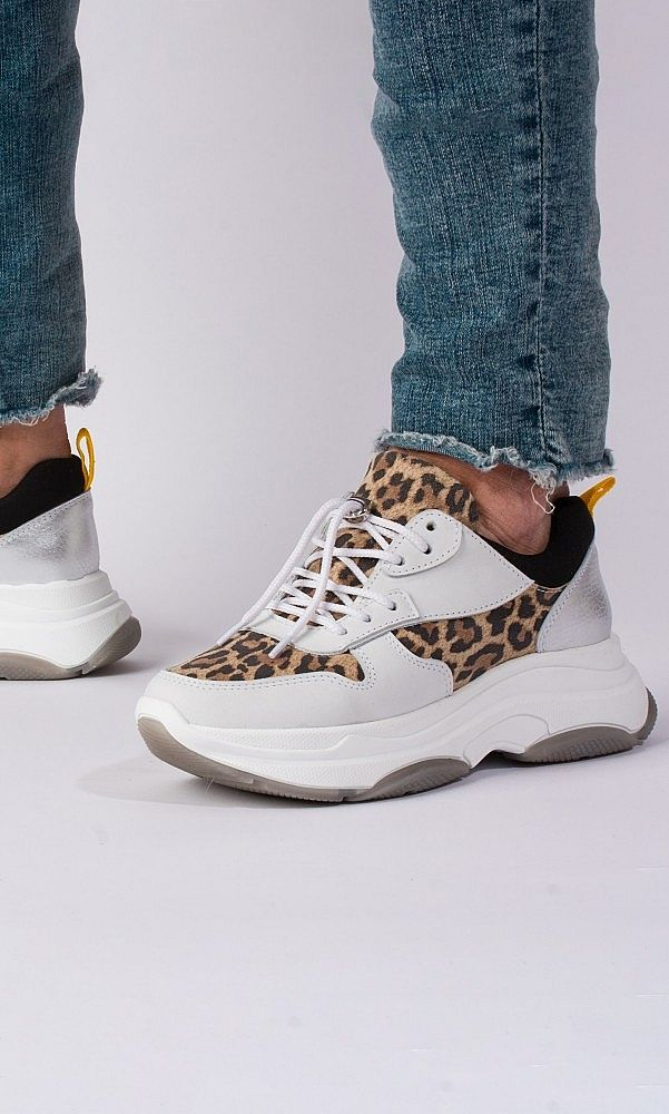 CHUNKY SOLE TRAINERS - LEOPARD/ Plumo