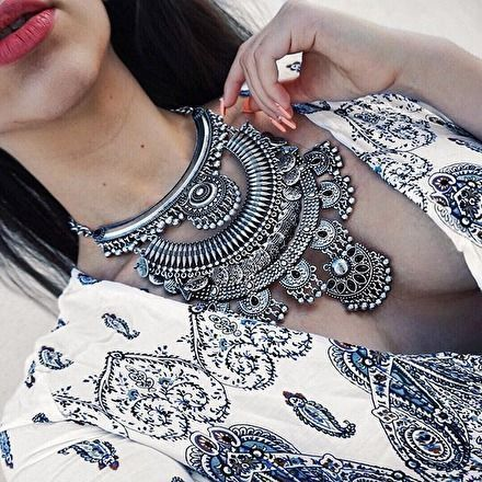 Gypsy Statement Necklace – #fashion #jewelry #fashionista #ootd – 28,90� @happ… – Happiness Boutique – Statement Jewelry & Vintage-inspired Clothing