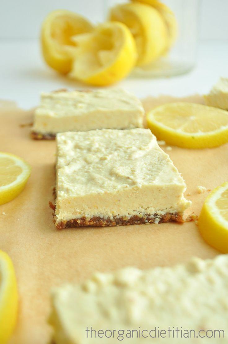 Healthy lemon bars that are raw, vegan paleo, gluten free, grain free and still…