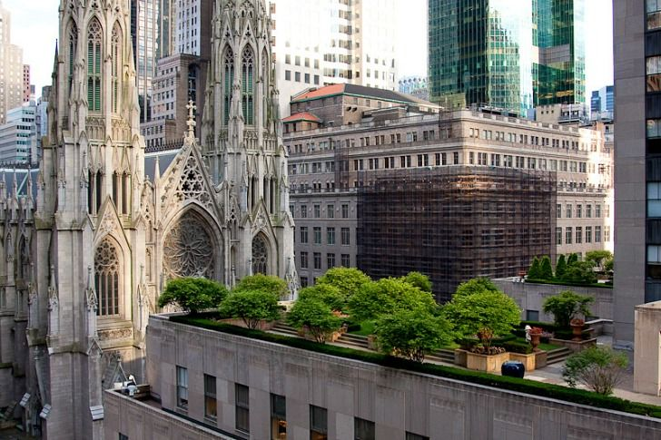 Who knew there were beautiful 75-year old gardens on top of Rockefeller Center?