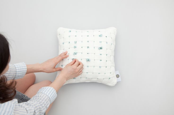 HUHU cushion by cool enough studio.  www.coolenoughstudio.com