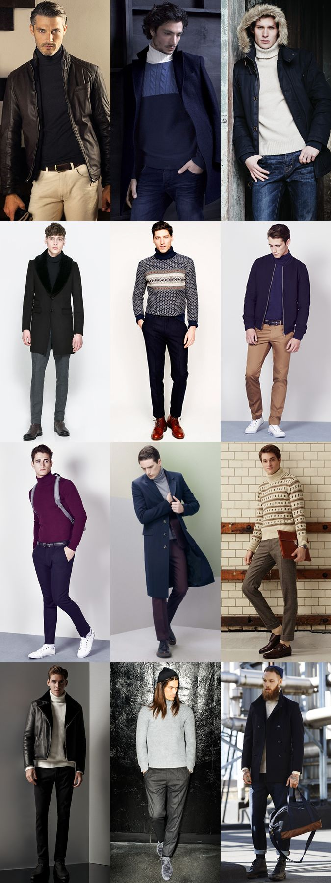 Ways To Wear Men's Roll Neck Trend in 2014 Autumn/Winter: as Casual/Smart Casual Lookbook Inspiration