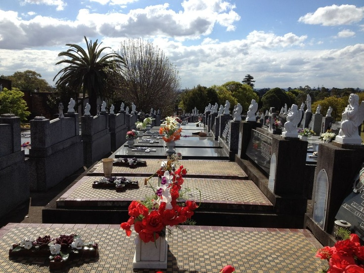 Monumental graves in Rookwood cemetery.