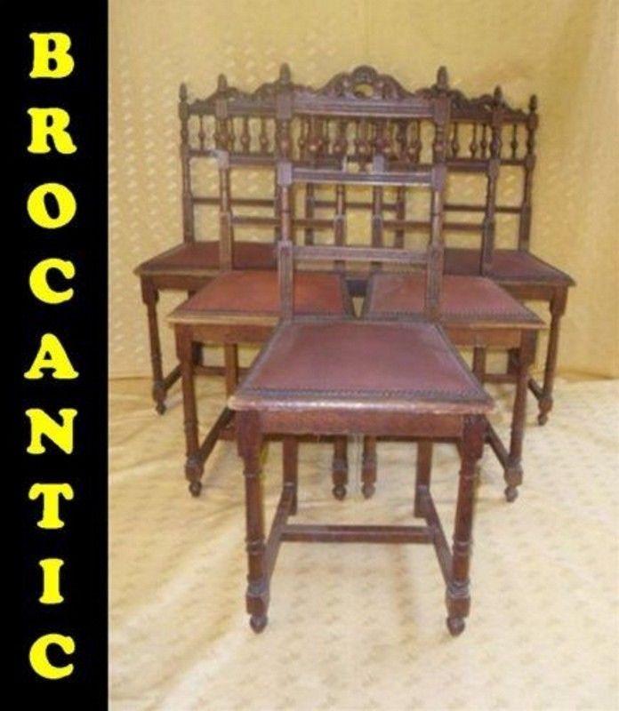 6 Chaises Style Renaissance Henri Ii Brocantic Antiquites Brocante Occasion Antiquite Brocante Chaise De Salle A Manger Chaise