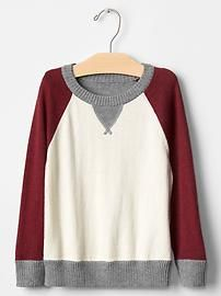 Supersoft colorblock sweater