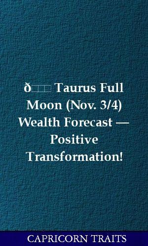 november 3 taurus horoscope