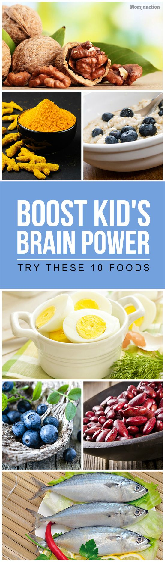 Kids Brain Foods: What your child eats has a big influence on his intelligence and cognitive powers!Check out the List Of 10 Foods For Brain Development In Children