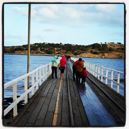 Granite Island causeway at #victorharbor. The Horse & Tram come along here. #FleurieuPeninsula #southaustralia #australia #adelaide #gadelaide