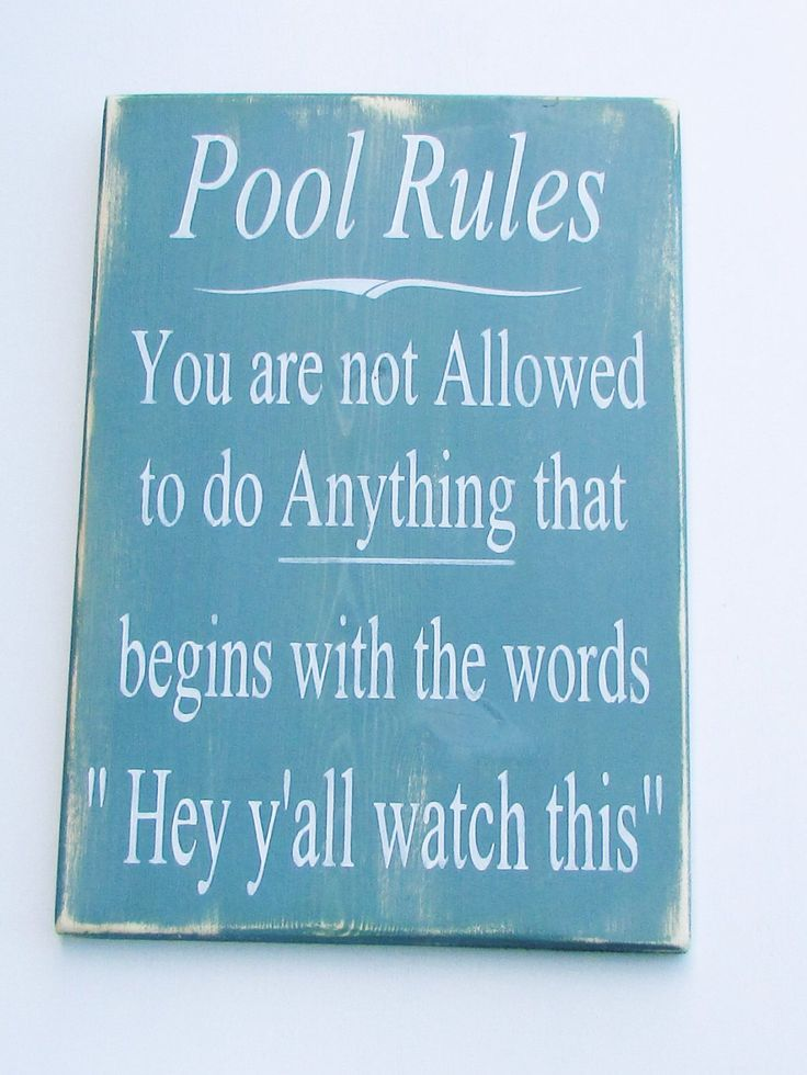 Hand Painted wood sign, pool rules sign, pool sign, primitive rustic sign, outdoor decor, home and living, distressed sign, sign by mockingbirdprimitive on Etsy https://www.etsy.com/listing/459646216/hand-painted-wood-sign-pool-rules-sign