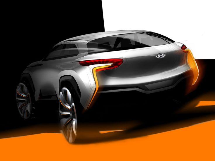 Hyundai Intrado Concept Design Sketch - Car Body Design