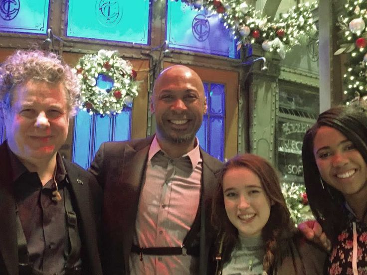 Lenny Pickett and Ron Blake with Gracie Lawrence, & Maya Blake. My daughter Maya and her friend Gracie came to the Amy Adams Dress show. Thanks for the last minute tix, LP!