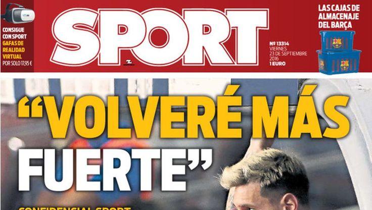 Portada Sport 23 de septiembre