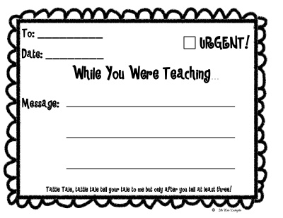 Tattle Tale! - What a great idea to cut down on tattling (or improve writing skills with lots of practice)!