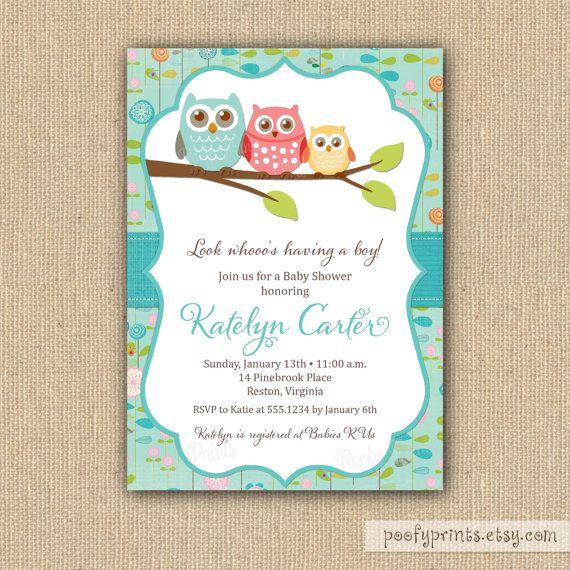 Blank Owl Baby Shower Invitations: 227 Best Baby Shower Images On Pinterest