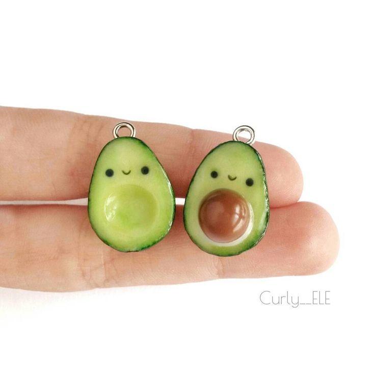 #kawaii #charms #polymer #clay #avocado