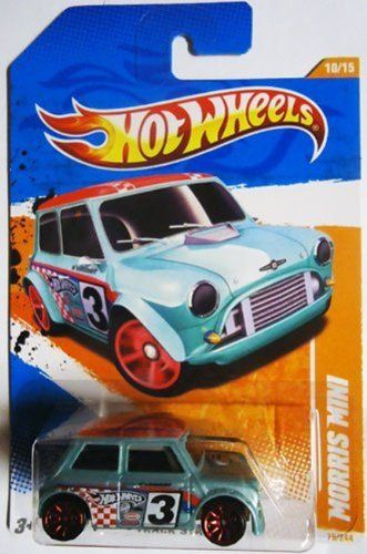 2011 Hot Wheels MORRIS MINI cooper TRACK STARS 10 of 15, #75 light blue w red hubs by Mattel. $3.55. 1:64 scale. die cast metal and plastic parts. ages 3+. DIE CAST