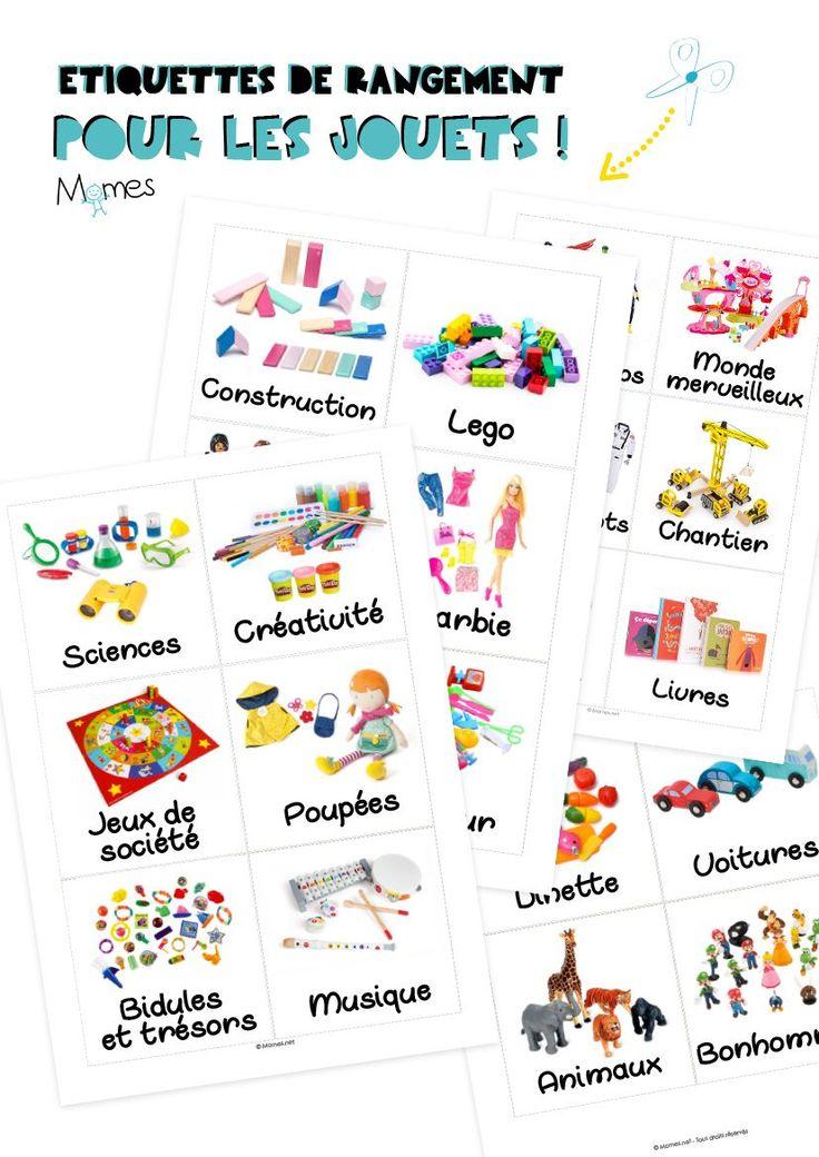 etiquettes à imprimer rangement jouets