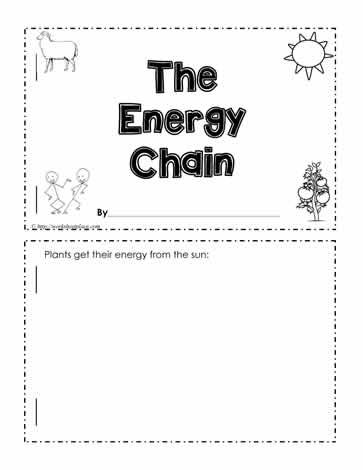 Energy Chain Worksheet | Science | Worksheets, Grade 1, Math
