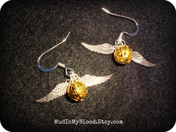 Golden Snitch Earrings! :)