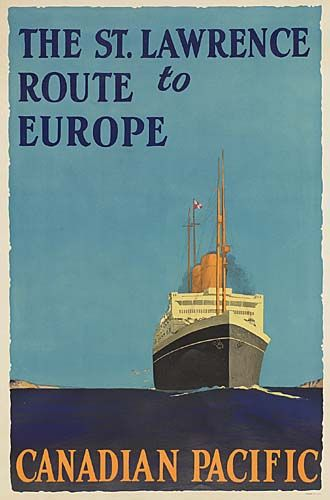 Canadian Pacific - The St Lawrence Route to Europe - (Norman Wilkinson) -