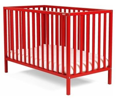 Paint an ikea crib so it looks like this. Nice color!