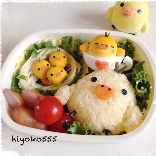 キイロイトリづくしお弁当。 ♥ Bento