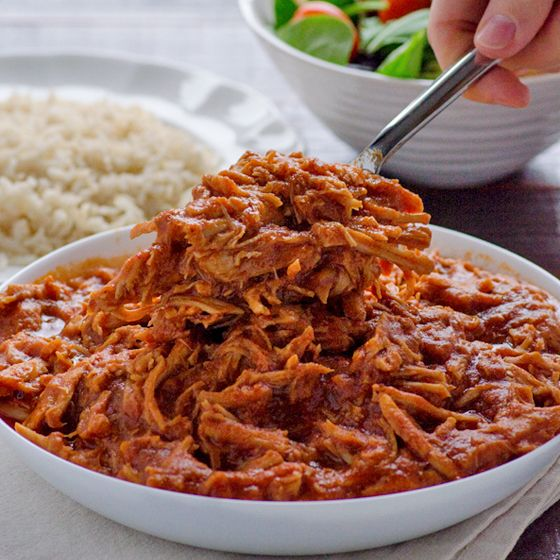 Clean Crock Pot Pulled Pork Recipe -- Clean Crock Pot Pulled Pork made from scratch, no bottles of BBQ sauce, for easy clean dinner. Serve on a bun or bed of quinoa/rice.