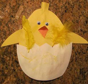 Spring - hatching chick