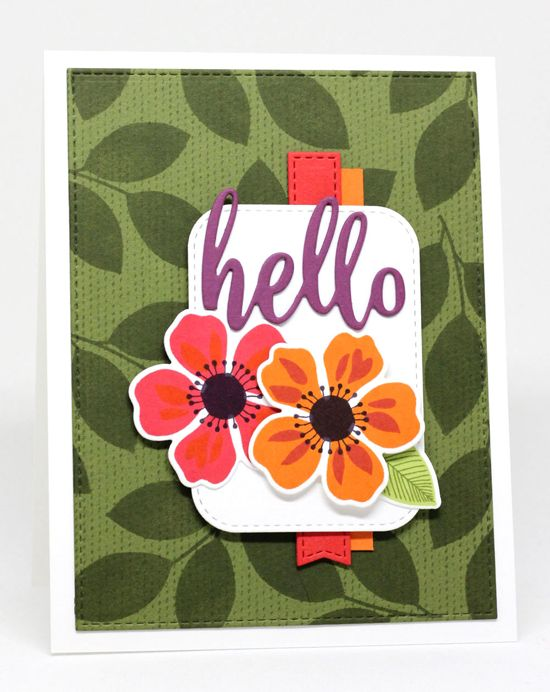Flashy Florals Stamp Set and Die-namics, Thanks & Hello Die-namics, Scattered Surface Background, Stitched Rounded Rectangle STAX Die-namics, Blueprints 13 Die-namics, Blueprints 28 Die-namics - Jody Morrow  #mftstamps