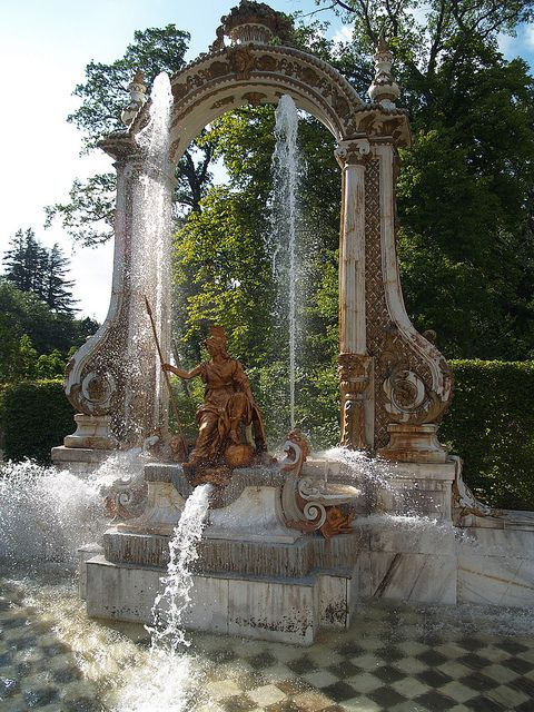 Minerva Fountain in La Granja de San Ildefonso, Spain.