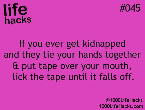 I will have to use this when i get kidnapped one day
