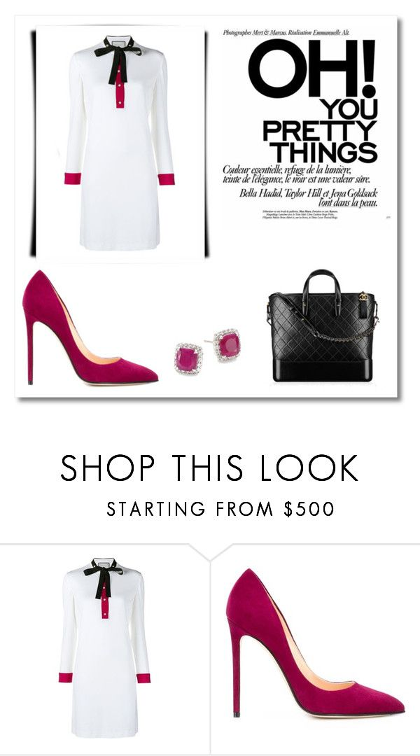 """""""Outfit # 4777"""" by miriam83 ❤ liked on Polyvore featuring Gucci, Cerasella Milano, Chanel and John Hardy"""