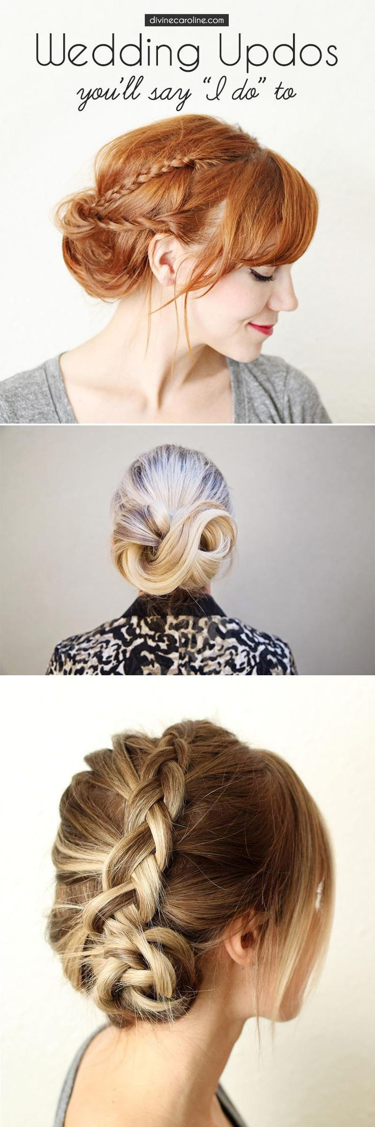 Throw your hair up in a classy way and you won't have to worry about it all day.