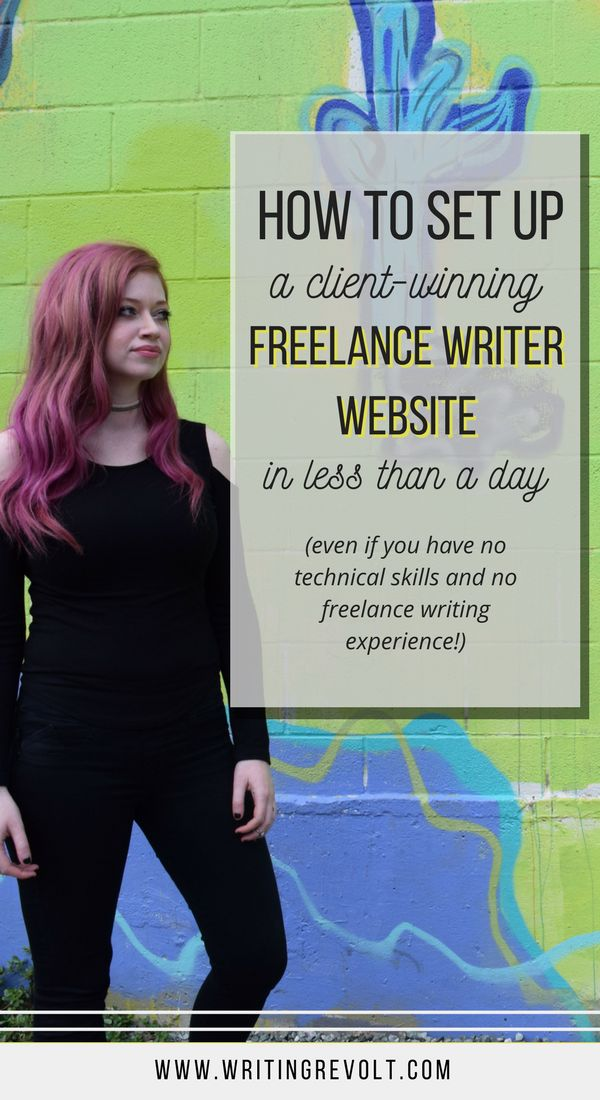 Need to create a freelance writer website? Wondering how to set up a freelance writing portfolio that SELLS? I'm going to walk you through it so you can make money writing online – even if you're a totally clueless newbie! Check it out. :) #freelance #freelancewriting #portfolio #website